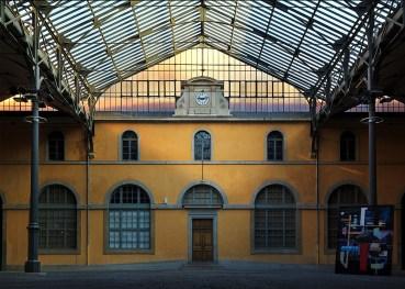 Colorful interior of Ecole Nationale Superieure des Beaux-Arts de Lyon.