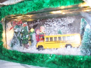 Lighted School Bus Glass Block