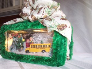 School Bus Glass Block
