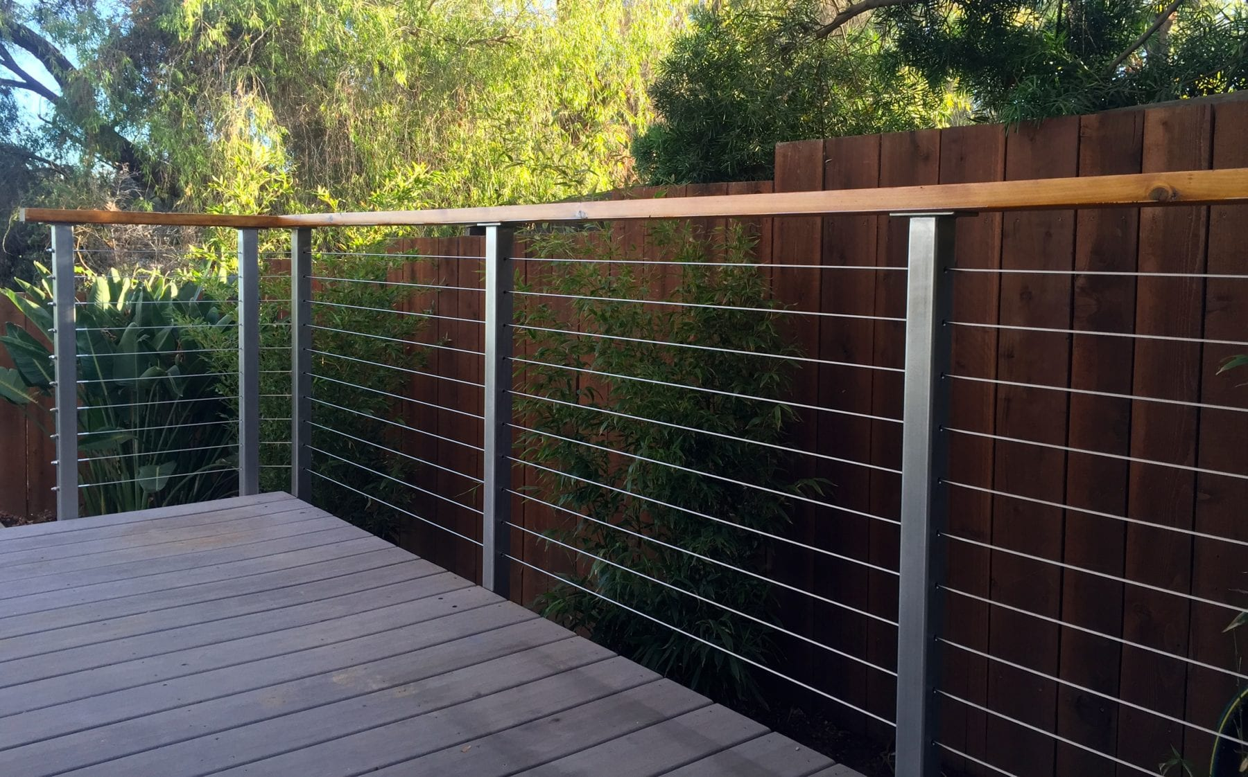 Stainless Steel Deck Railing Posts San Diego Cable Railings