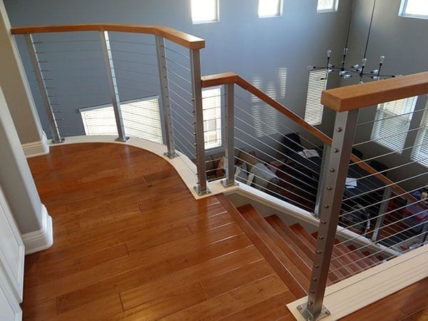 Interior Cable Railings San Diego Cable Railings | Diy Interior Cable Railing | Front Step | 42 Inch | Modern | Wire | Low Cost