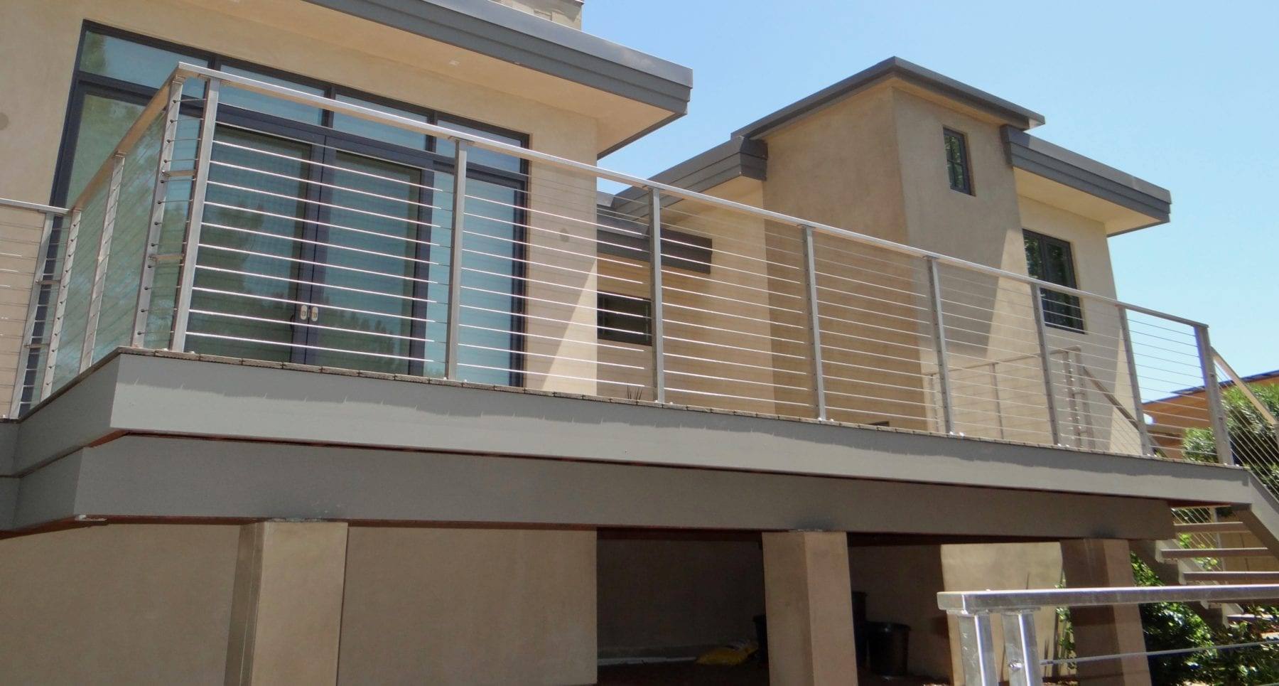 Cable Railing Posts San Diego Cable Railings | Diy Interior Cable Railing | Front Step | 42 Inch | Modern | Wire | Low Cost