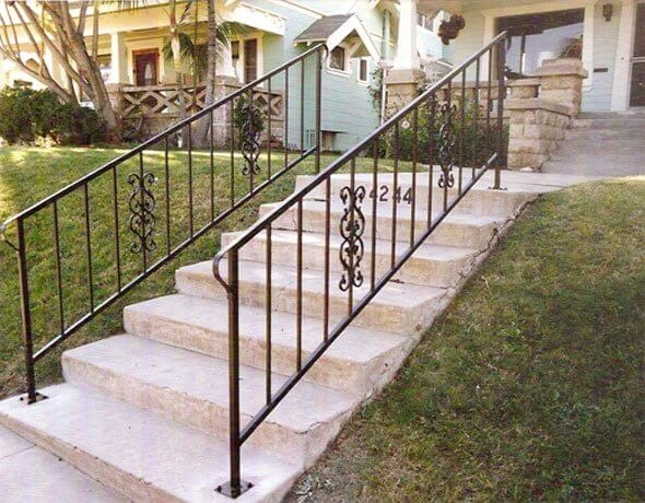 Iron Entry Doors Fences Gates Stair Railings San Diego Ca | Wrought Iron Stair Railing Near Me | Wood | Railing Ideas | Spindles | Ornamental Iron | Iron Balusters