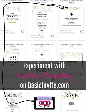 Wedding Branding - BasicInvite com