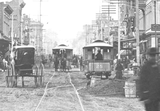 Horses deposited tons of manure on the dirt streets of San Francisco.