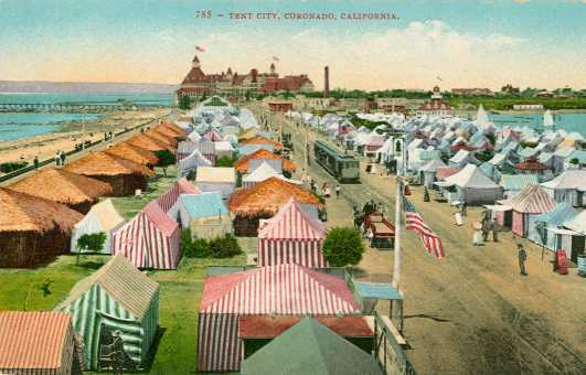Coronado's Tent City in the early 1900s.