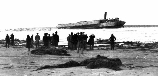 The SS Monte Carlo, beached at Coronado. From Stranger Than Fiction, p. 42.