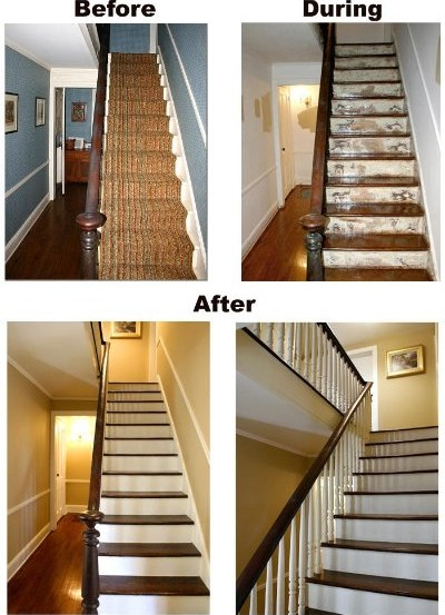 Stairs Stripping Services London Staircases Sanding Paint | Stripping Stairs Back To Wood | Paint Remover | Stair Risers | Stair Treads | Steps | Hardwood