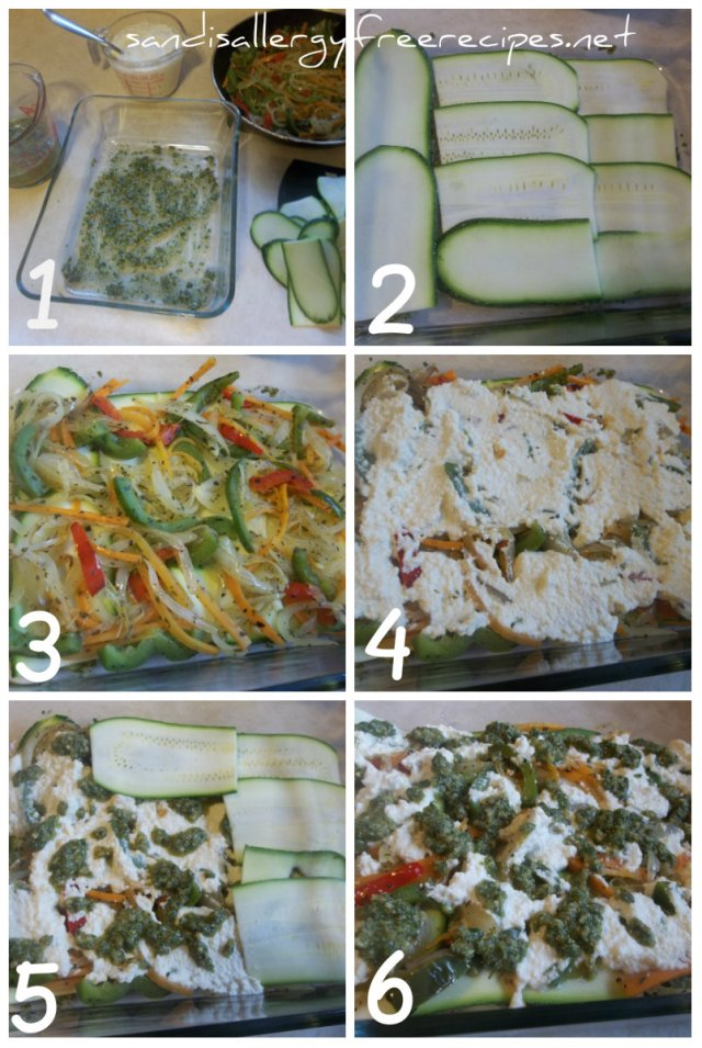 Prep-Zucchini Pesto Lasagna