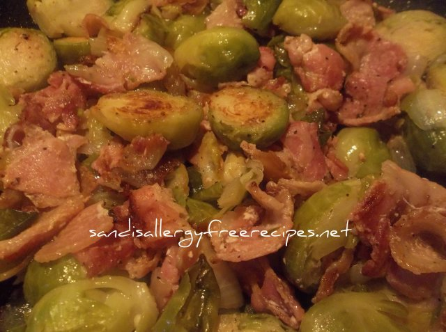 Bacon Brussel Sprouts-Paleo