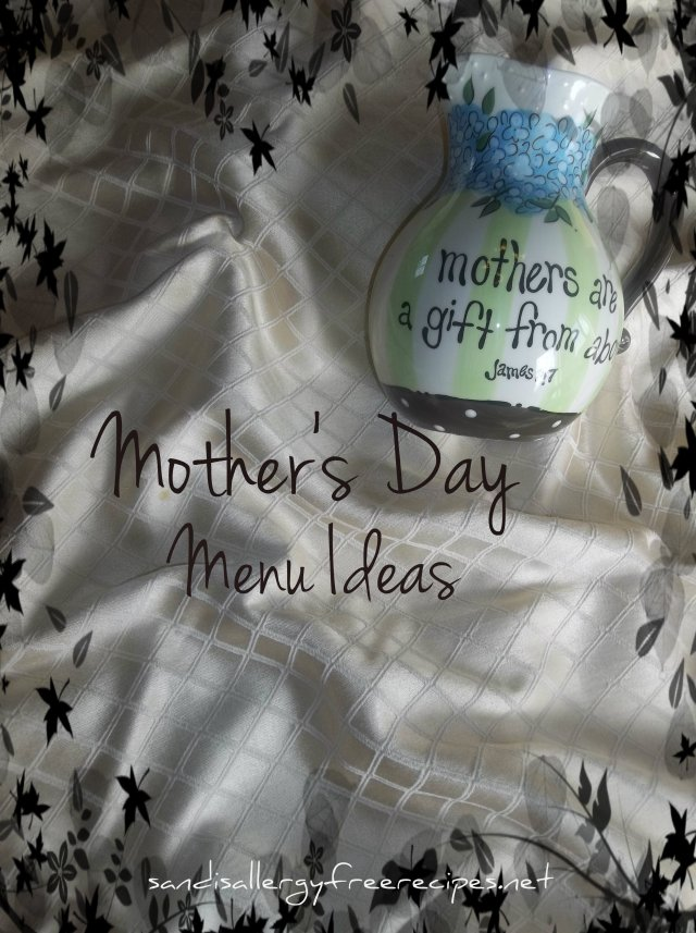Mother's Day Menu Ideas.