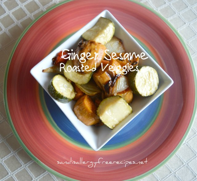 Ginger-Sesame Roasted Veggies