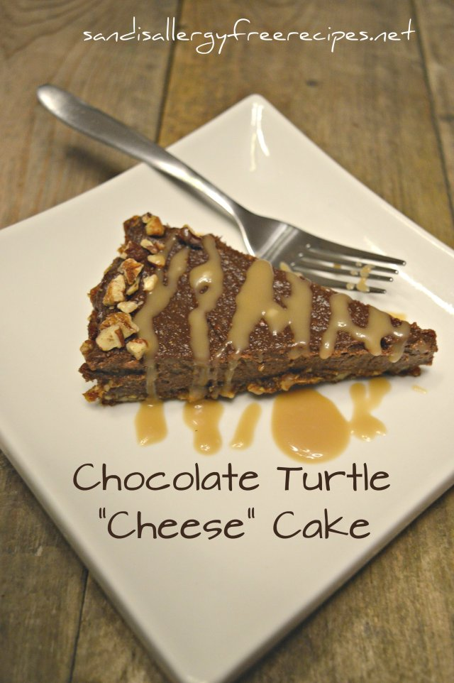 "Chocolate Turtle ""Cheese"" Cake"