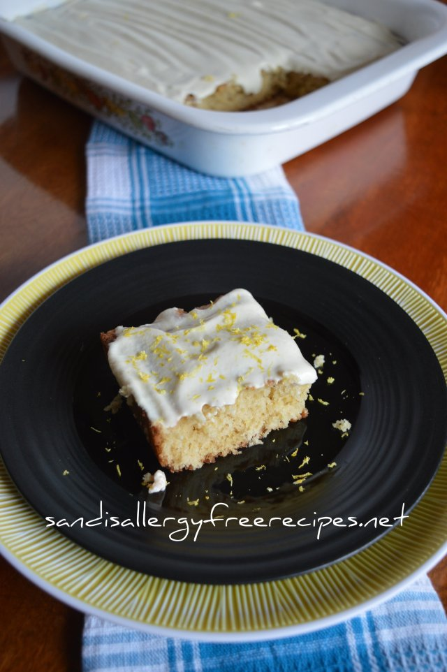 Lemon Cake with Lemon Cashew Icing