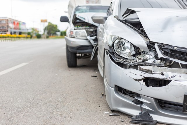 Two Cars in Auto Accident - Williston Car Accident Lawyers - North Dakota Personal Injury Firm - Sand Law PLLC.jpg