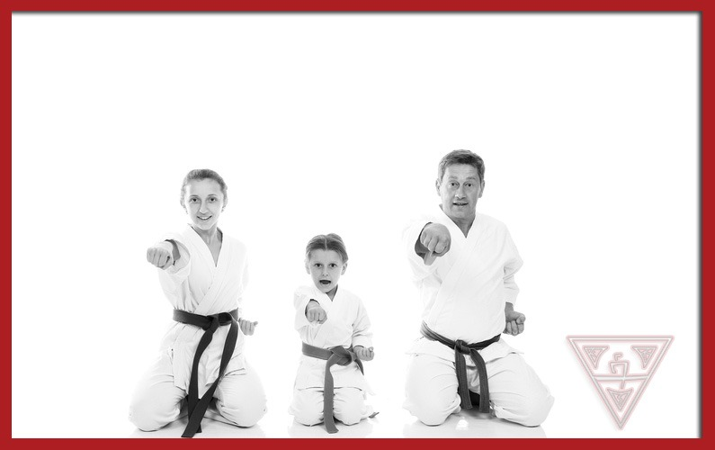 Family Practicing Karate Together