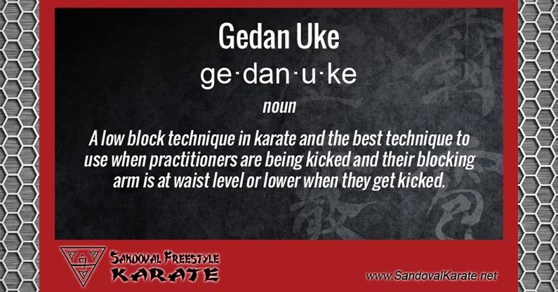 Gedan Uke Definition