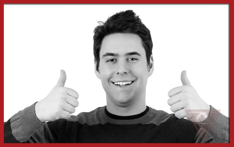 Guy Smiling with Thumbs Up
