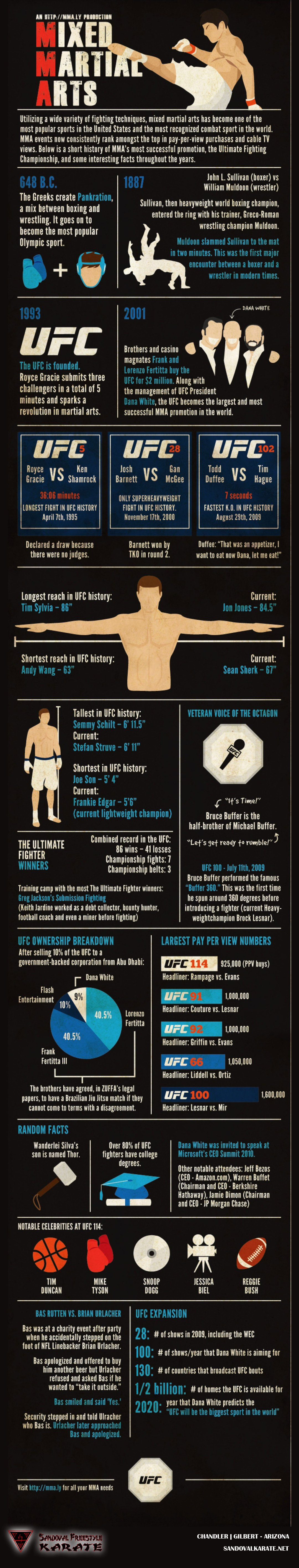 History of Mixed Martial Arts Infographic