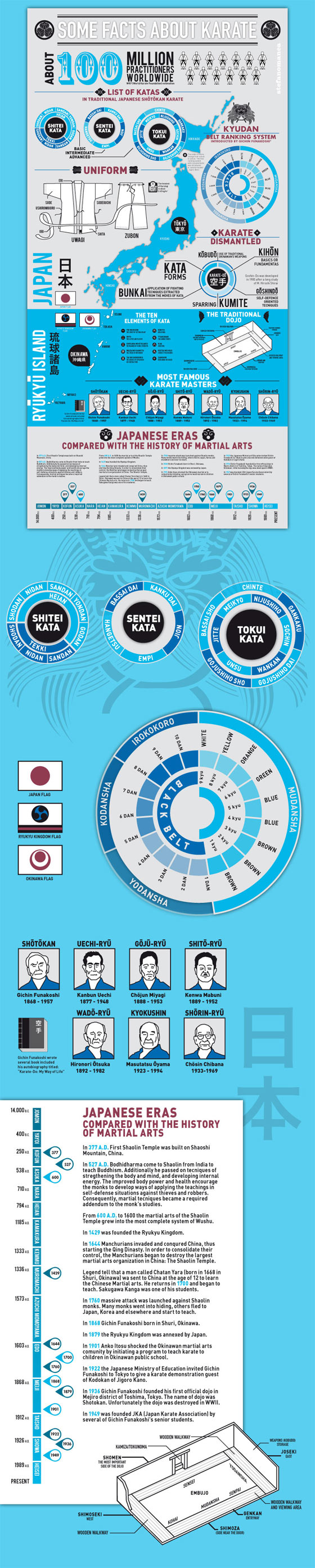 Some Facts About Karate Infographic