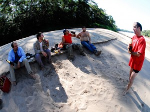 chuncho Macaw Clay Lick tambopata reserve sandoval lake lodge with amazon travel in peru