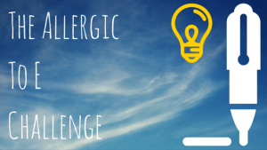 the allergic to e challenge - logo 25-6-15