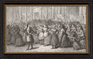 5th October 1789 the Women's March on Versailles. On this day in 1789, an angry mob of nearly 7,000 working women – armed with pitchforks, pikes and muskets – marched in the rain from Paris to Versailles in what was to be a pivotal event in the intensifying French Revolution.
