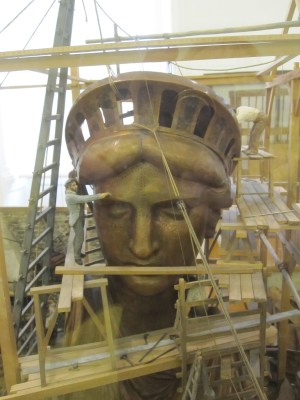 The head of the Statue of Liberty