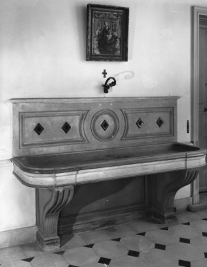 basin in the entry