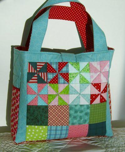 Pinwheel Tote Bag Back