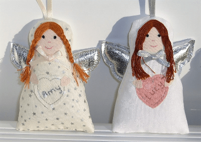 Angel decoration with Hearts
