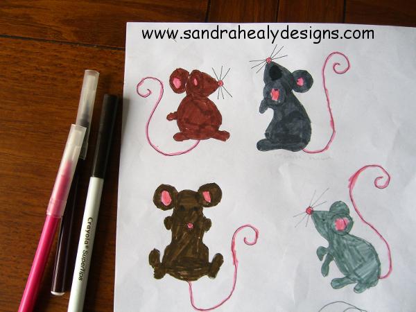 Alphabet quilt sketch