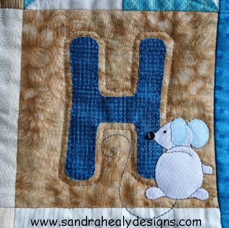 Alphabet quilt H letter