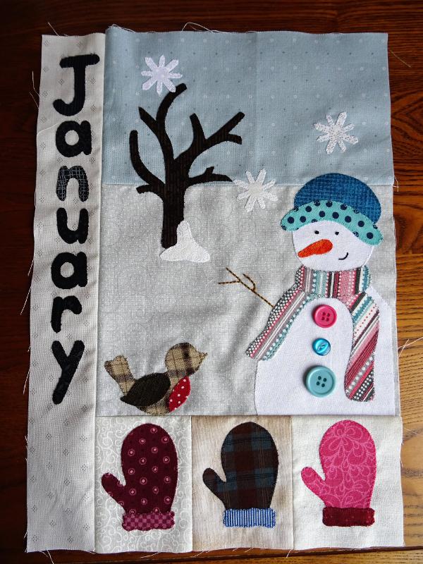 Calendar Quilt - January