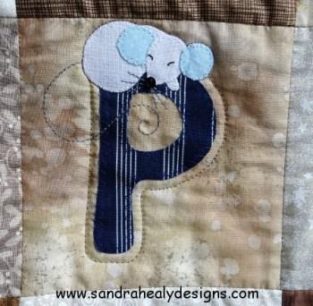 Sandra Healy Designs Alphabet quilt P Mouse
