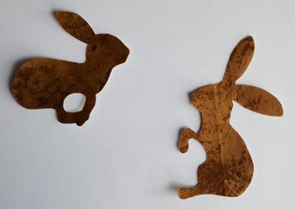 Sandra Healy Designs Calendar Quilt March Block Dark Hares
