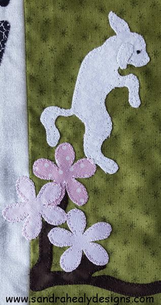 Sandra Healy Designs Calendar Quilt Leaping lamb