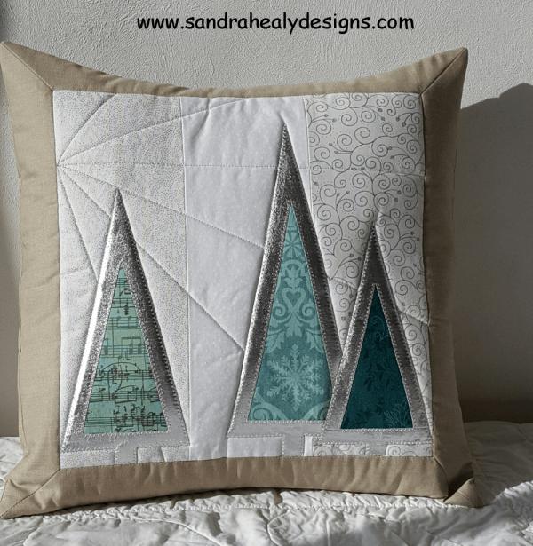 Sandra Healy Designs Christmas Tree Cushion Pillow Pattern
