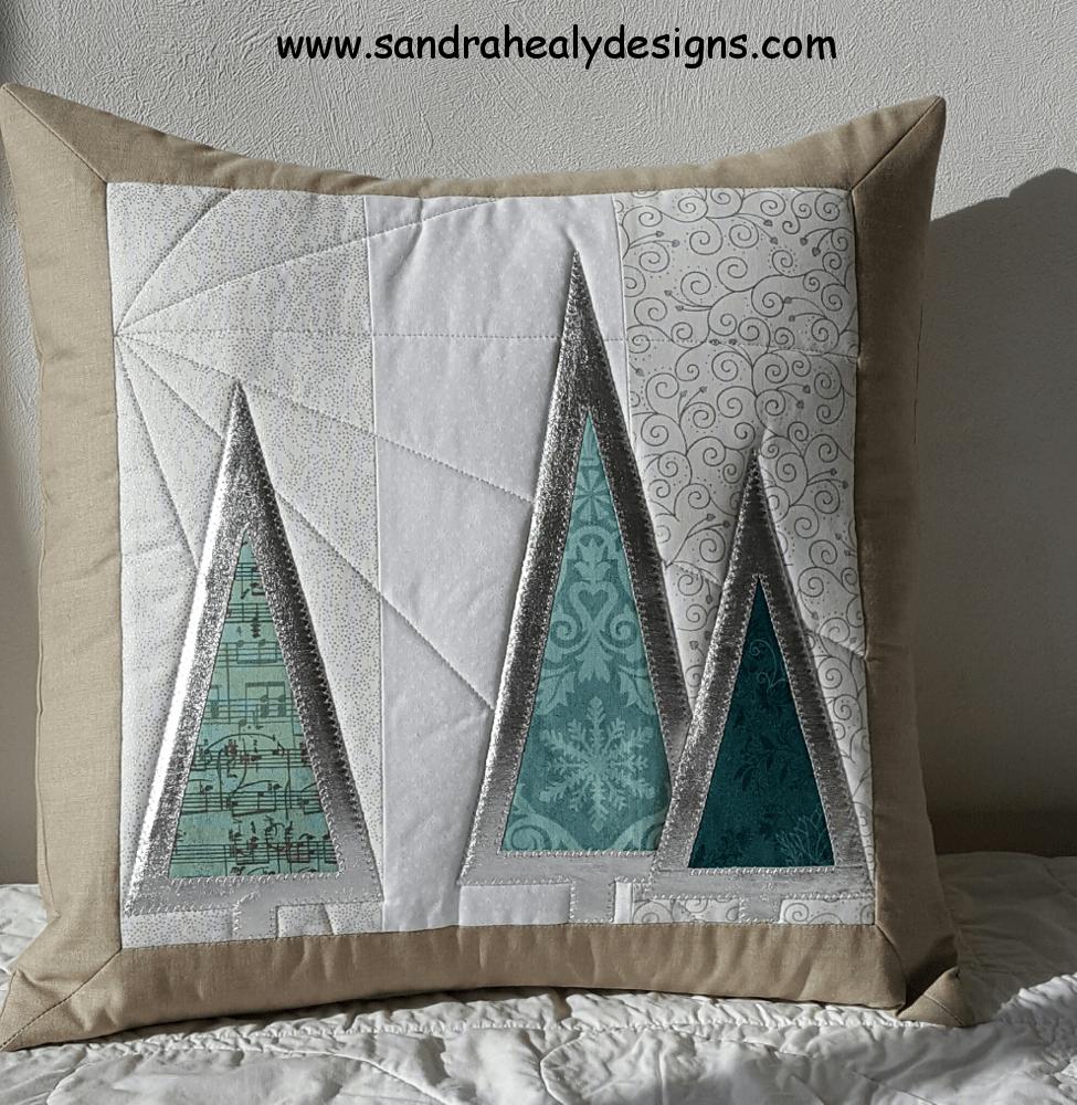 Sandra Healy Designs Silver Tree Cushion