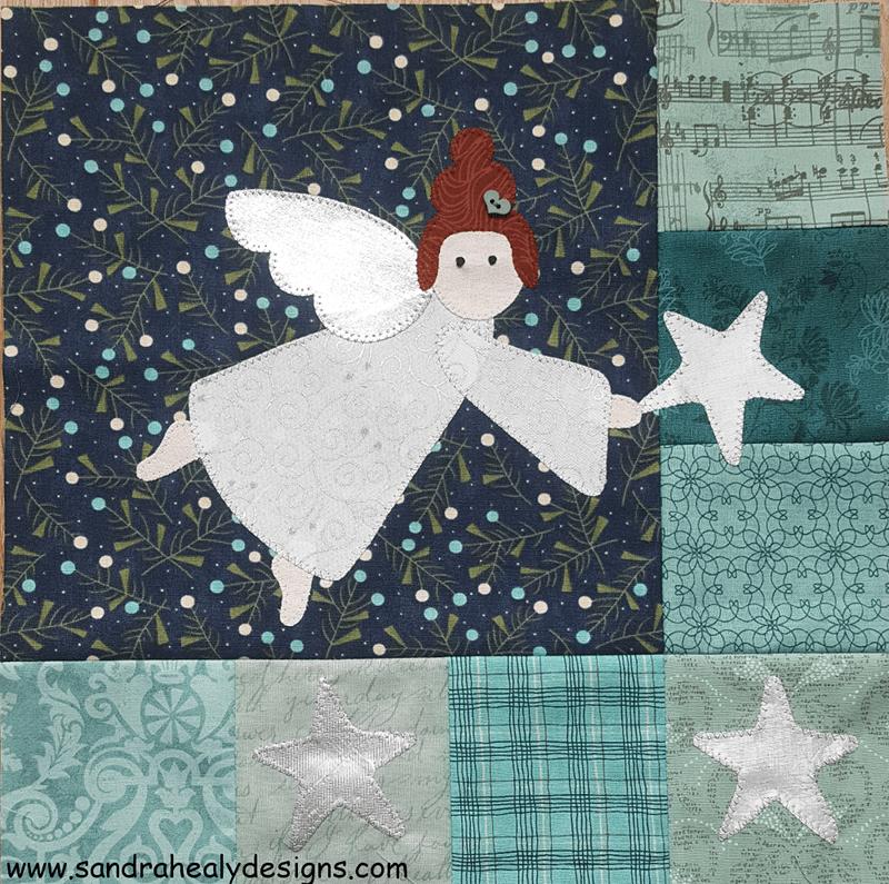 Sandra Healy Designs, I Wish You A Merry QAL Block 6