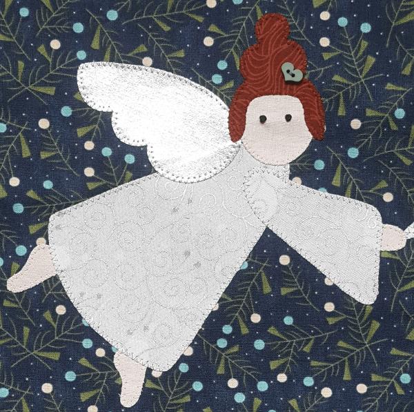 Sandra Healy Designs, I Wish You a Merry QAL, Angel closeup