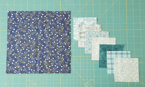 Sandra Healy Designs I Wish You a Merry QAL, Block 6 fabrics