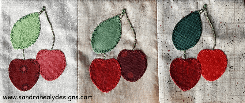 Sandra Healy Designs August Block cherries