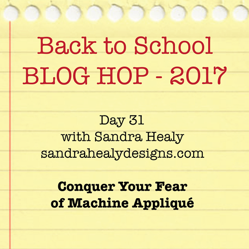 How to Machine Appliqué, Back to School Blog Hop
