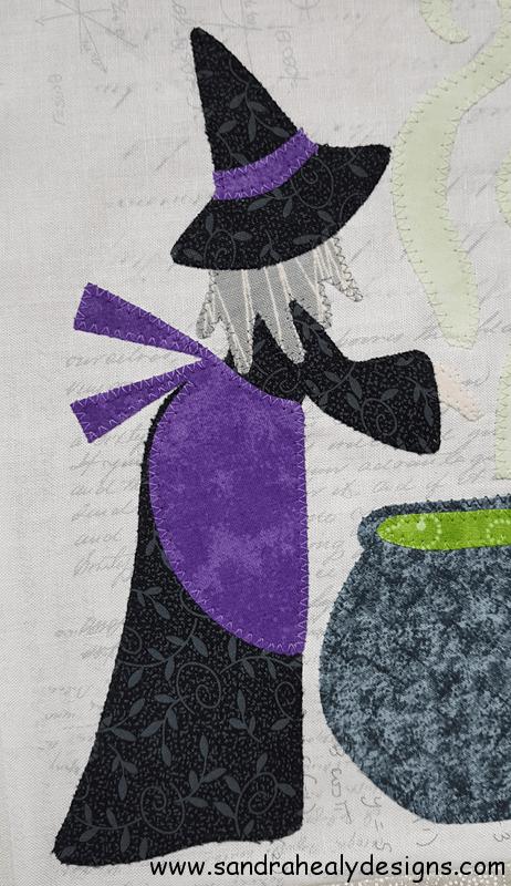 Calendar Quilt Sandra Healy Designs Witch