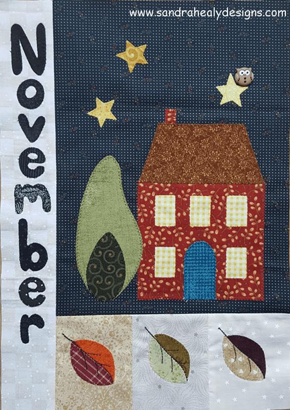 Sandra Healy Designs Calendar Quilt November Block