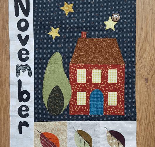 Sandra Healy Designs Calendar Quilt November Block Featured Image