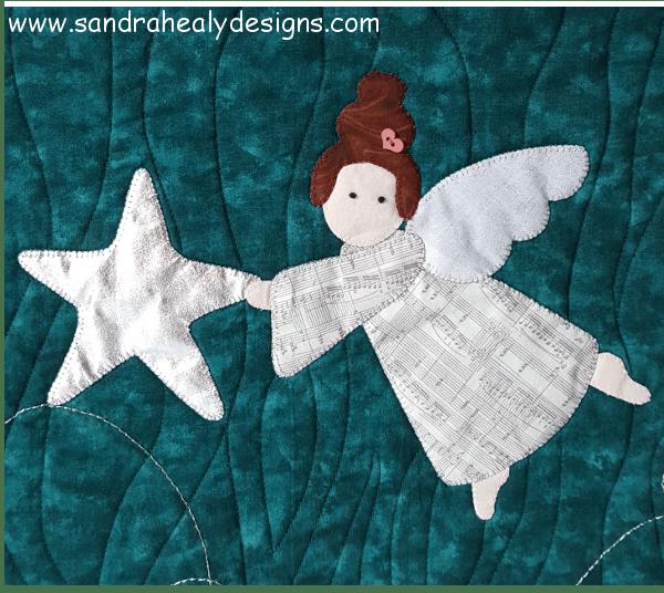 Sandra Healy Designs Christmas Angel Wall Hanging Second Angel