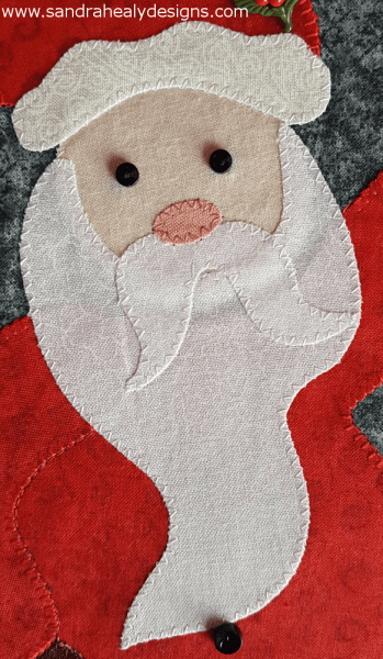 Sandra Healy Designs Calendar Quilt December block Santa face