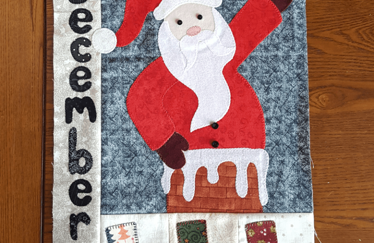 Sandra Healy Designs Calendar Quilt December block digital pattern